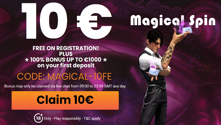 Το MagicalSpin καλωσορίζει τους νέους παίκτες με 10 ευρώ δώρο